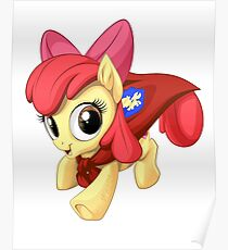 Apple Bloom Caped Crusader Poster