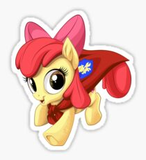 Apple Bloom Caped Crusader Sticker