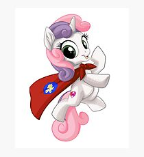 Sweetie Belle Caped Crusader Photographic Print
