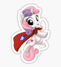 Sweetie Belle Caped Crusader Sticker