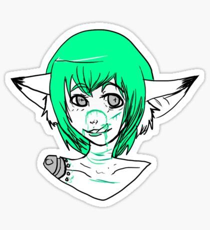 Green blood  Sticker