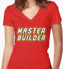 MASTER BUILDER Women's Fitted V-Neck T-Shirt