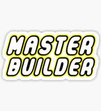 MASTER BUILDER Sticker