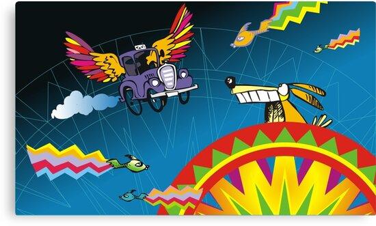 Aztec taxi by Matt Mawson