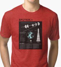 SPUTNIK-1 Infographics  Tri-blend T-Shirt