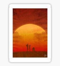 The Clone Wars - Minimalist Poster Sticker