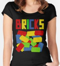 Colored Bricks [Large] by Customize My Minifig Women's Fitted Scoop T-Shirt