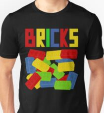 Colored Bricks [Large] by Customize My Minifig T-Shirt
