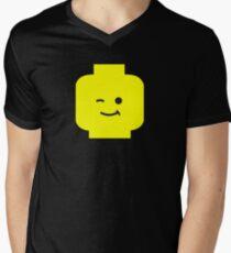 Minifig Winking Head  Mens V-Neck T-Shirt