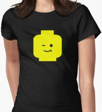 Minifig Winking Head  Women's Fitted T-Shirt
