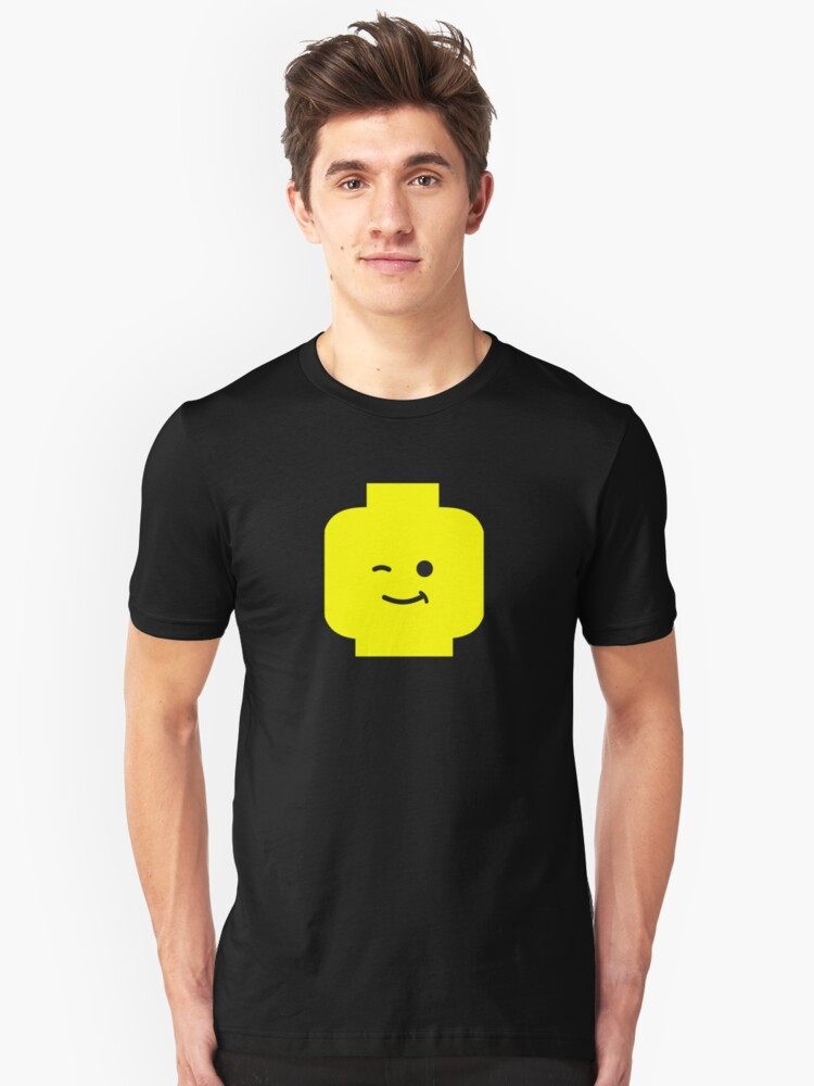 Minifig Winking Head  Unisex T-Shirt Front