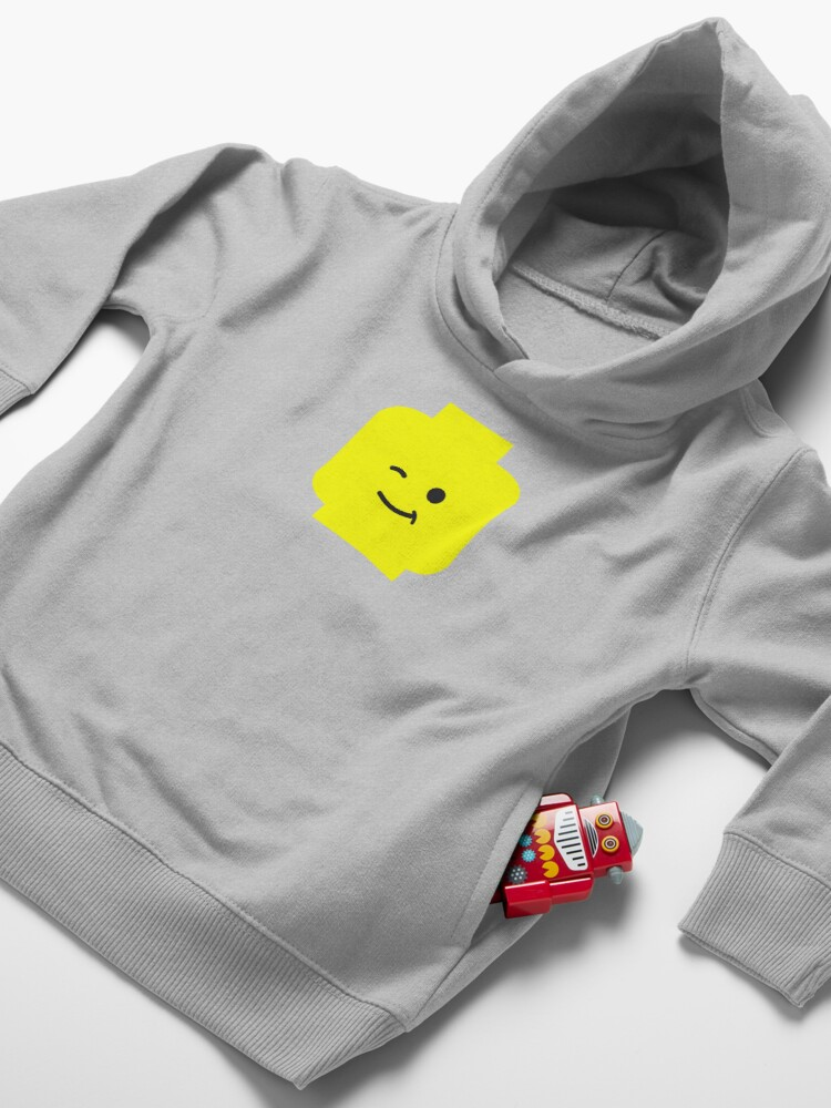 Alternate view of Minifig Winking Head  Toddler Pullover Hoodie