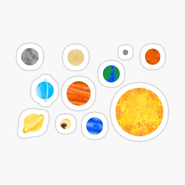 Watercolor Solar System (Pack) Sticker