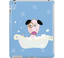 Cute dog bath. Bathing cute small doggie iPad Case/Skin
