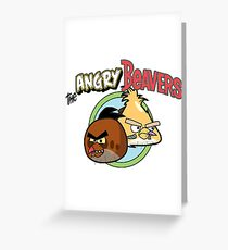 The Angry Beavbirds Greeting Card