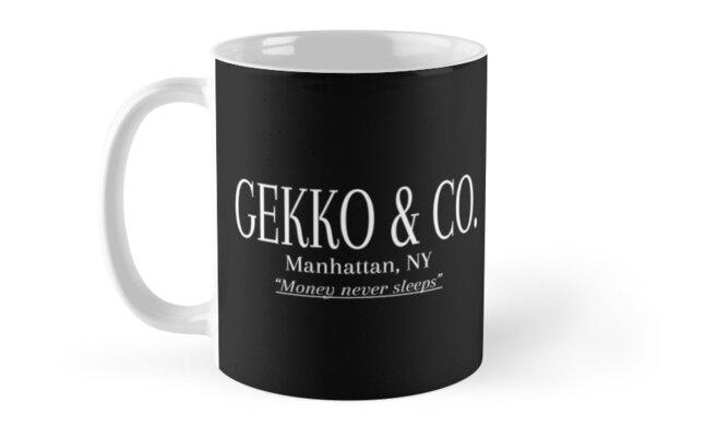 quotgekko amp co wall street movie gordon gekkoquot mugs by
