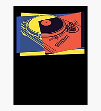 Vintage Turntable Pop Art Photographic Print