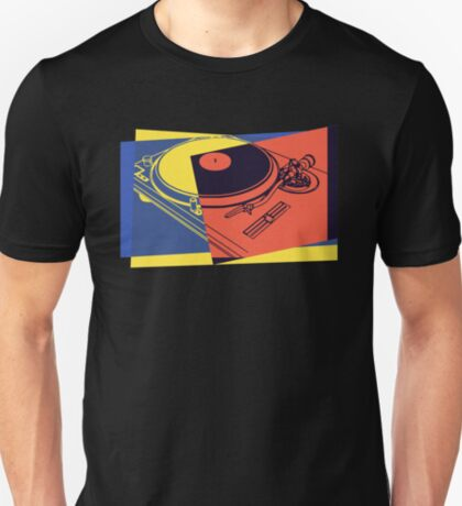 Vintage Turntable Pop Art T-Shirt