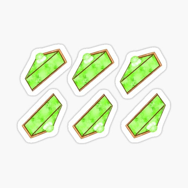 Watercolor Key Lime Pie (Pack) Sticker