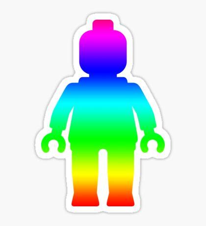 Minifig [Large Rainbow 1]  Sticker