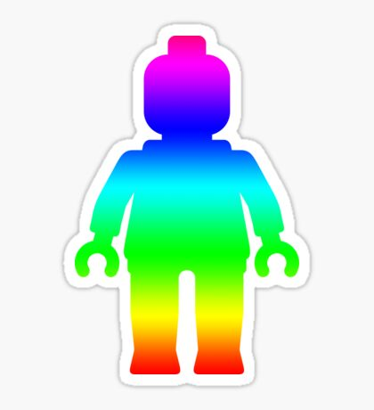 Minifig [Large Rainbow 1]  Sticker