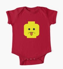 Rude Minifig Face Sticking Tongue Out  One Piece - Short Sleeve