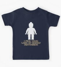 """I Find Your Lack of Bricks Disturbing"" by Customize My Minifig Kids Clothes"