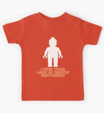 """""""I Find Your Lack of Bricks Disturbing"""" by Customize My Minifig Kids Clothes"""