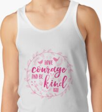 Have Courage and Be Kind Typography Raspberry Pink Tank Top