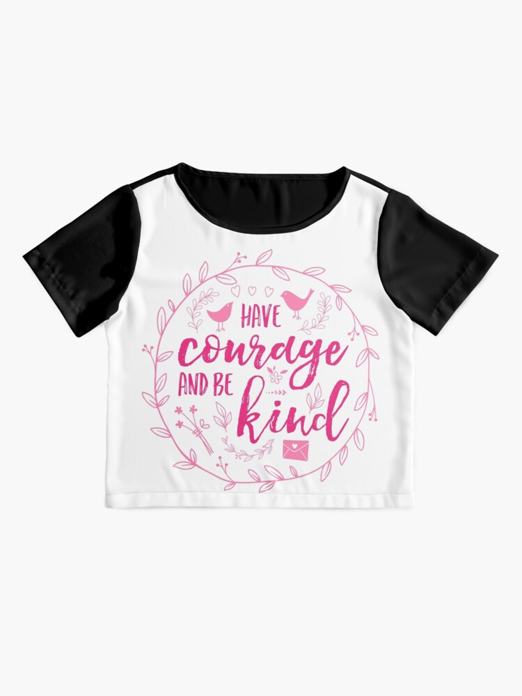 Alternate view of Have Courage and Be Kind Typography Raspberry Pink Chiffon Top