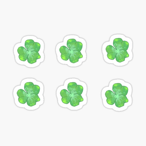 Watercolor Clover (Pack) Sticker