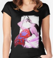"Yeah Yeah Yeahs ""STREEEESS!!!!!!"" Women's Fitted Scoop T-Shirt"