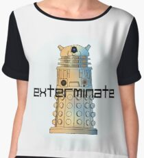 Exterminate Women's Chiffon Top