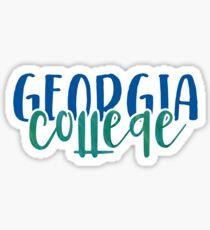 Georgia College - Style 1 Sticker