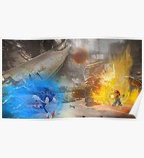Mario vs. Sonic poster Poster