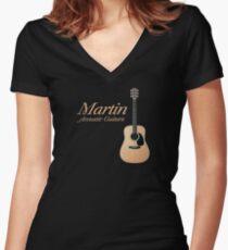Martin acoustic guitars Women's Fitted V-Neck T-Shirt