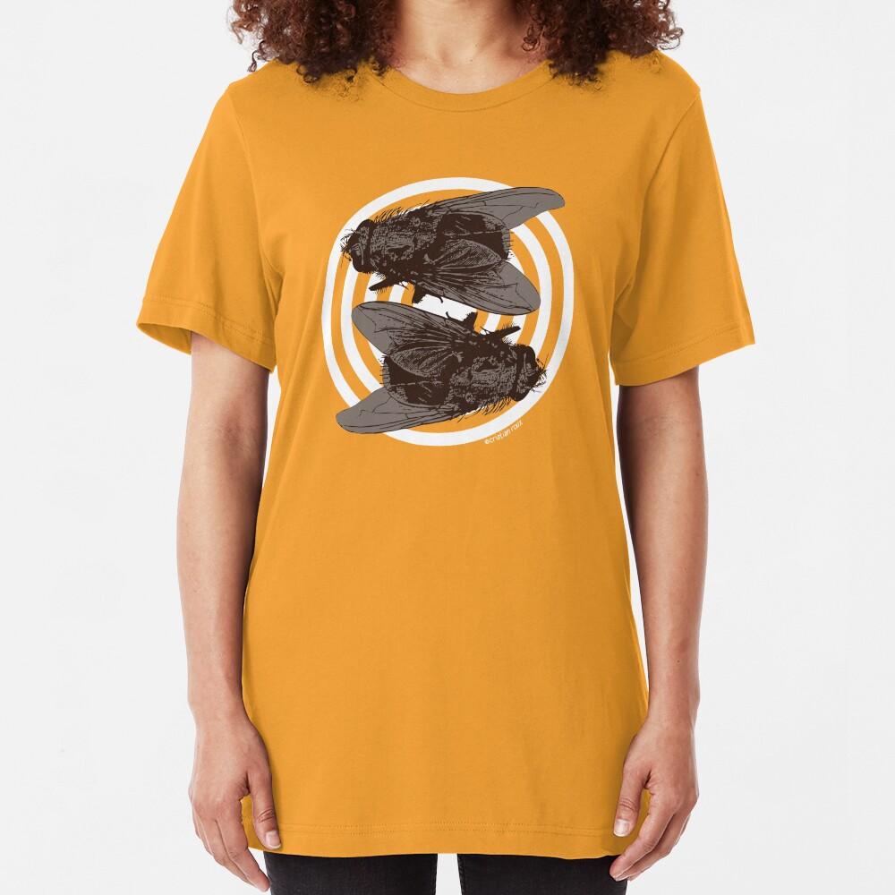 Yin and Yang Flies of Harmony Slim Fit T-Shirt