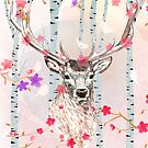 The deer in the forest by heidisuul