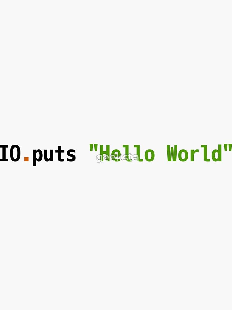 Hello World Elixir Code - Light Syntax Scheme Coder Design by geeksta