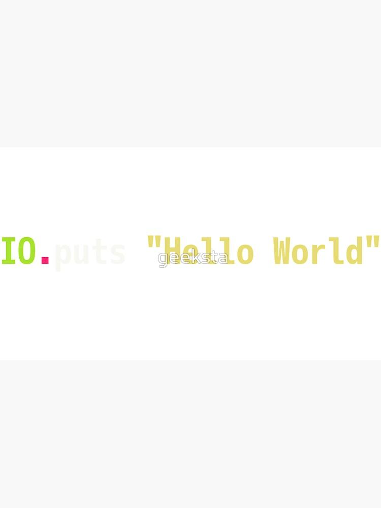 Hello World Elixir Code - Dark Syntax Scheme Coder Design by geeksta