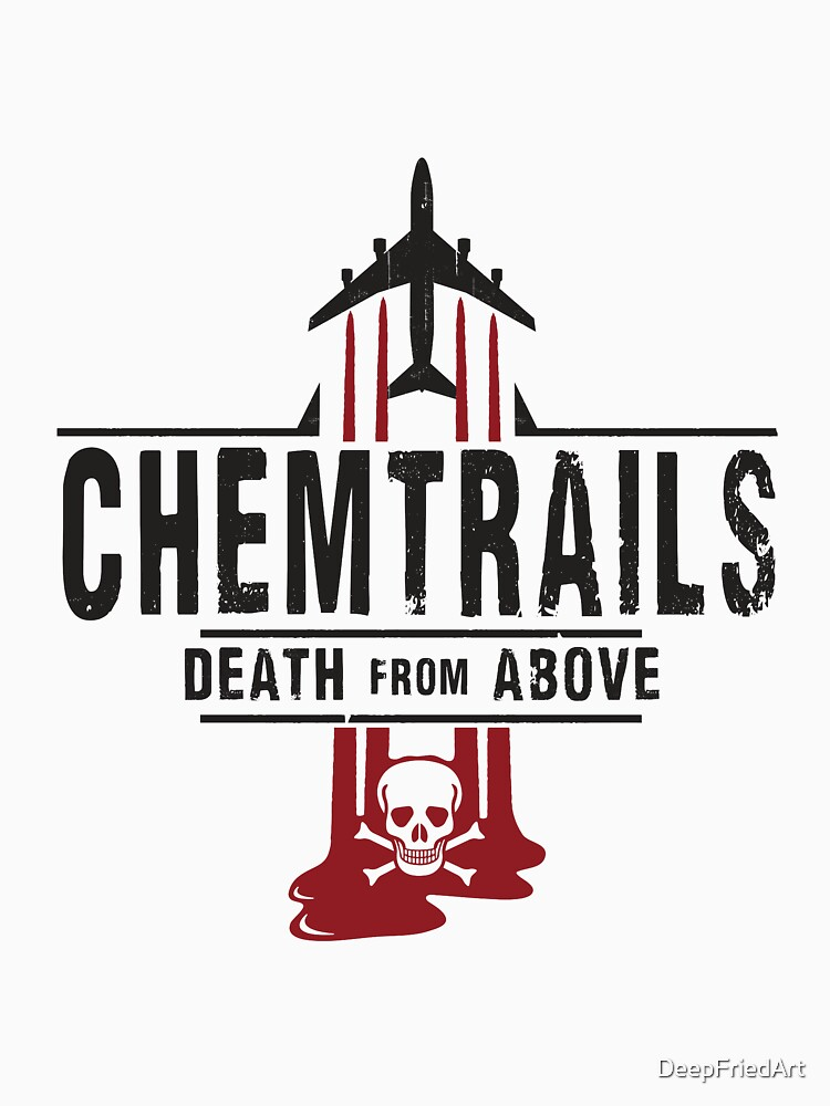 Jet Chemtrails Red & Grey Logo by DeepFriedArt