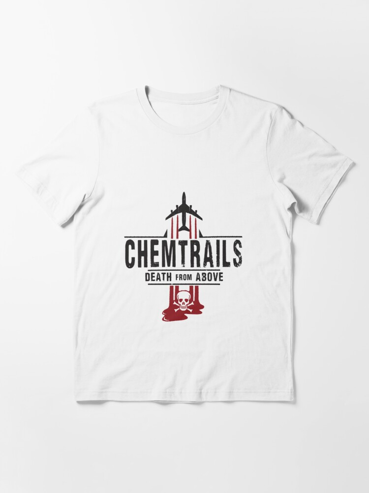 Alternate view of Jet Chemtrails Red & Grey Logo Essential T-Shirt