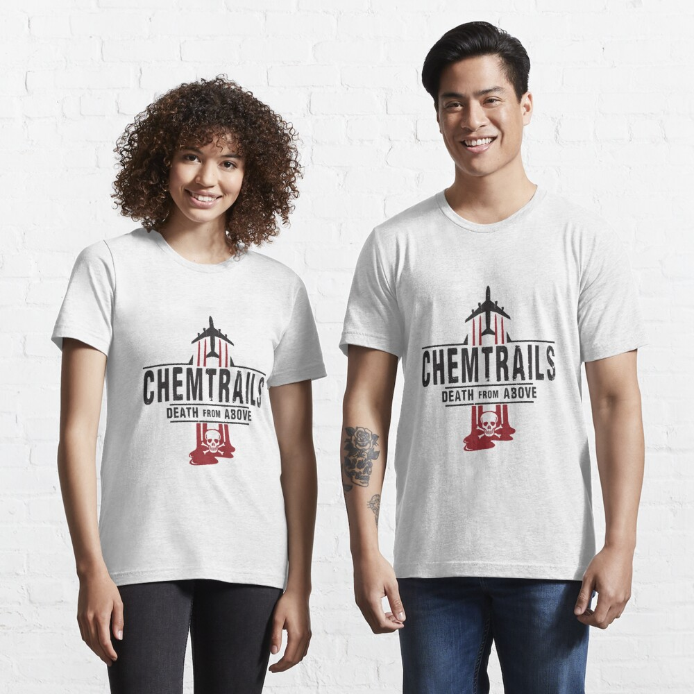 Jet Chemtrails Red & Grey Logo Essential T-Shirt