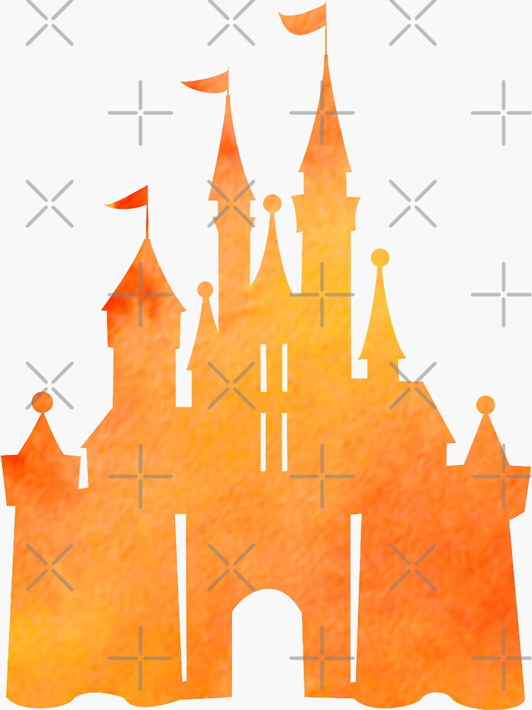 Halloween Watercolor Castle by darrianrebecca