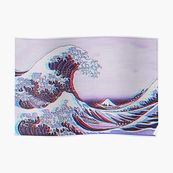 The great wave off kanagawa 3D Poster