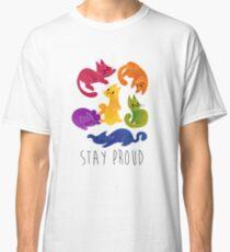 LGBT + PRIDE CATS Classic T-Shirt