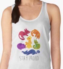 LGBT + PRIDE CATS Women's Tank Top