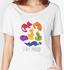 LGBT + PRIDE CATS Women's Relaxed Fit T-Shirt