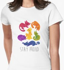 LGBT + PRIDE CATS Women's Fitted T-Shirt