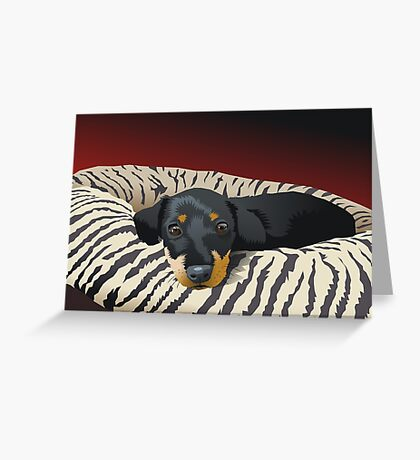The hunter rests Greeting Card